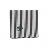 Mr.GENTLEMAN-HANDKERCHIEF - Grey Stripe