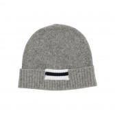Mr.GENTLEMAN-LINE KNIT CAP - Grey