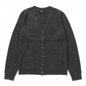 Meticulous Knitwear-Woodstock Cardigan - Solid : Floral Stitch - Charcoal