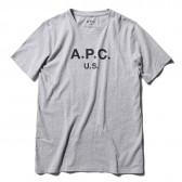 A.P.C.-A.P.C. U.S. メンズTシャツ - 杢 Pale Gray