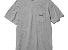patagonia-Ms P-6 Logo Cotton Pocket T-Shirt - Gravel Heather