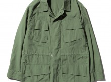 AURALEE-WASHED FINX RIPSTOP FATIGUE JACKET - Olive Green