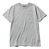 NEPENTHES Purple Label - N Emb. Pocket Tee - Grey