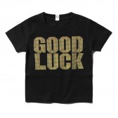 GOODENOUGH-PRINT TEE - GOOD LUCK (KIDS) - Black