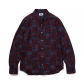 GOODENOUGH-PATCHWORK SHIRTS - Red