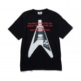 GOODENOUGH-PRINT TEE - GUITER3 - Black : Red