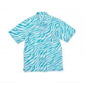 GOODENOUGH-ZEBRA PRINT S:S SHIRTS - Turquoise