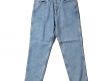 Living Concept-5POCKET TAPERED DENIM PANTS : ICE WASH - Ice Blue