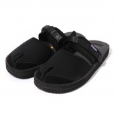 Suicoke × NEPENTHES Purple Label - Split Toe Sandal w:A-B Vibram - Black