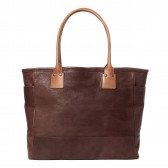LEATHER & SILVER MOTO-GOAT LEATHER TOTE BAG19 - Brown