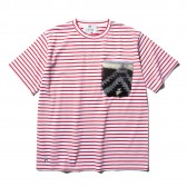 HABANOS-BOA-POCKET BORDER S:SL Tee - Red