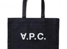 A.P.C.-V.P.C. ショッピングバッグ 横 - Indigo