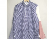 MOUNTAIN RESEARCH-Cricket Shirt - Gingham Check - Navy