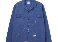 BEDWIN-L:S MILITARY SHIRT JACKET 「CLIFF」 - Blue