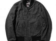 ENGINEERED GARMENTS-Aviator Jacket - Wool Homespun - Charcoal
