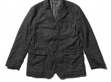 ENGINEERED GARMENTS-Baker Jacket - Wool Homespun - Charcoal
