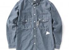 and wander-PL dungaree shirt (M) - Blue