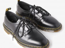 ENGINEERED GARMENTS-Dr. Martens × EG - Ghillie Lace - Classic Smooth Leather - Black