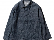 ENGINEERED GARMENTS-EG Workaday Army Shirt - 8oz Denim - Indigo
