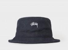 STUSSY-Textured Wool Bucket Hat - Blue