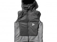 and wander-twill fleece vest - Gray