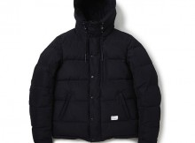 BEDWIN-HOODED DOWN JACKET 「QUINE」 - Black
