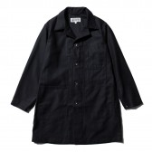 ENGINEERED GARMENTS-EG Workaday Shop Coat - Cotton Reversed Sateen - Black