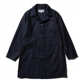 ENGINEERED GARMENTS-EG Workaday Shop Coat - Cotton Reversed Sateen - Dk.Navy