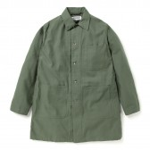 ENGINEERED GARMENTS-EG Workaday Shop Coat - Cotton Reversed Sateen - Olive