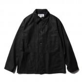 ENGINEERED GARMENTS-EG Workaday Utility Jacket - Cotton Reversed Sateen - Black