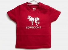 COW BOOKS-Kids Tshirt - Red × Ivory