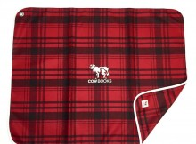 COW BOOKS-Reading Blanket - Red × Brown