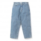 Living Concept-5POCKET WIDE DENIM PANTS / ICE WASH - Ice Blue