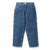 Living Concept-5POCKET WIDE DENIM PANTS / BIO WASH - Blue
