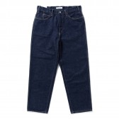 Living Concept-5POCKET WIDE DENIM PANTS - Indigo