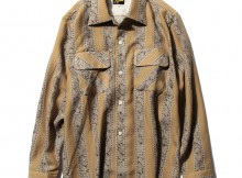 Needles - Classic Shirt - Tencel Cloth : Paisley Print - Beige