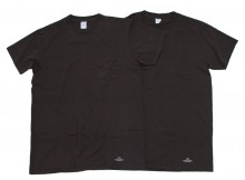 UNIVERSAL PRODUCTS-VELVA SHEEN 2PACK T-SHIRTS - Black