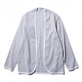FLISTFIA-Piping Cardigan - Blue Stripe