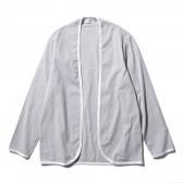 FLISTFIA-Piping Cardigan - Gray Stripe
