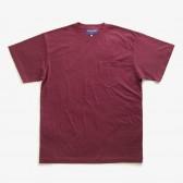 NEPENTHES Purple Label - N Emb. Pocket Tee - Burgundy