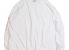 UNIVERSAL PRODUCTS-HEAVY WEIGHT L:S TEE - White