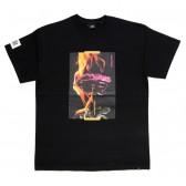 ELVIRA-BURNING ROSE T-SHIRT - Black