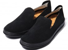 MANEBU MNB-017S HEEHAW LIGHT SUEDE MENS - Black