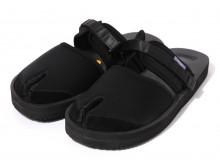 Suicoke × NEPENTHES Purple Label - Split Toe Sandal w:A-B Vibram - Neoprene - Black