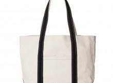 kiruna-vibram x canvas tote - cotton canvas:vibram - Off White : Black