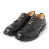 LEATHER & SILVER MOTO-Plain Toe Oxford Shoes #2111 : Chromexcel : Dainite sole - Black