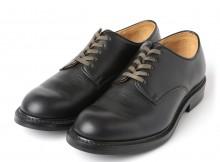 LEATHER & SILVER MOTO-Plain Toe Oxford Shoes #2111 : Chromexcel : Dainite sole - Black