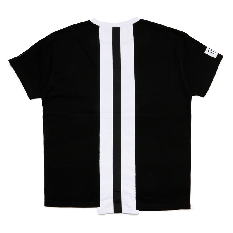 MULTI REMAKE T-SHIRT - A (Black × White × Black)