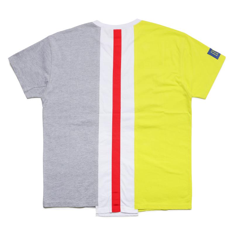 MULTI REMAKE T-SHIRT - C (Yellow × White × Grey)