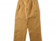 UNIVERSAL PRODUCTS-2 TUCK WIDE CHINO PANTS - Camel